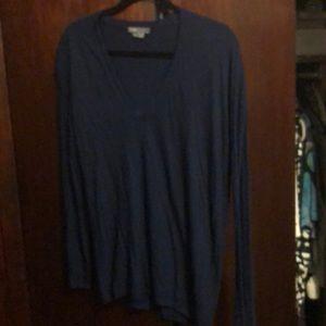 Vince v-neck navy blue sweater